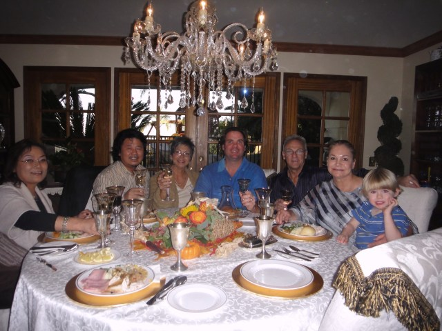 Parent Table During Thanksgiving Dinner