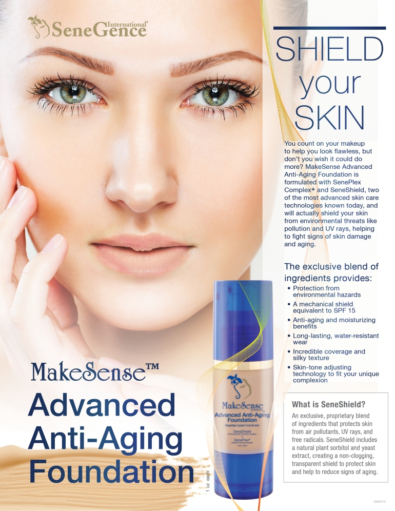 US_MakeSense Advanced Anti-Aging Foundation flier