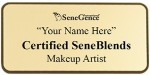 When you complete your SeneBlends Certification, you get a beautiful  gold badge to wear!